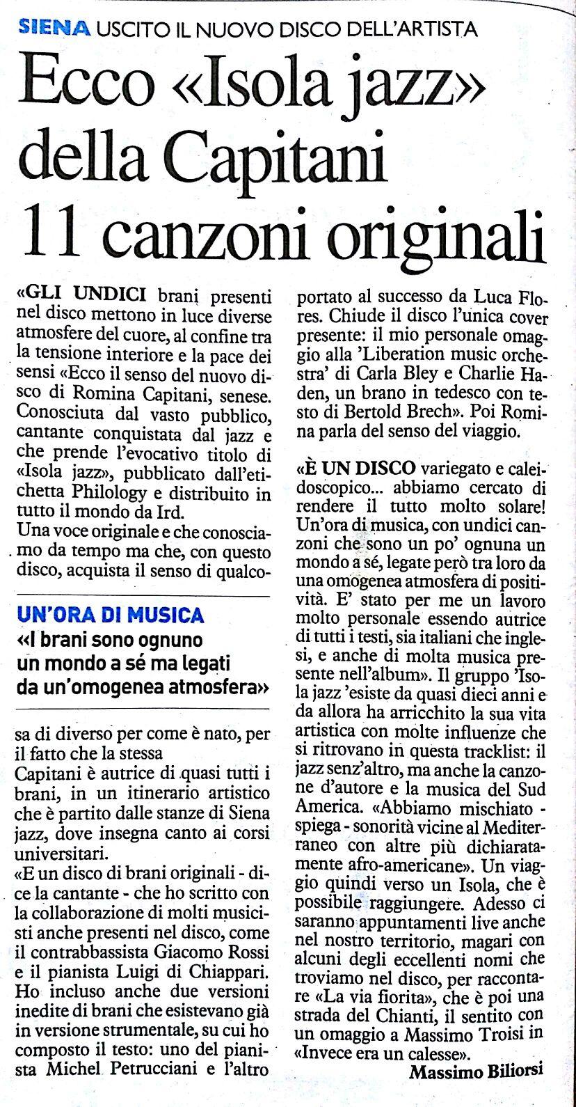 Isola Jazz La Nazione 17-11-16
