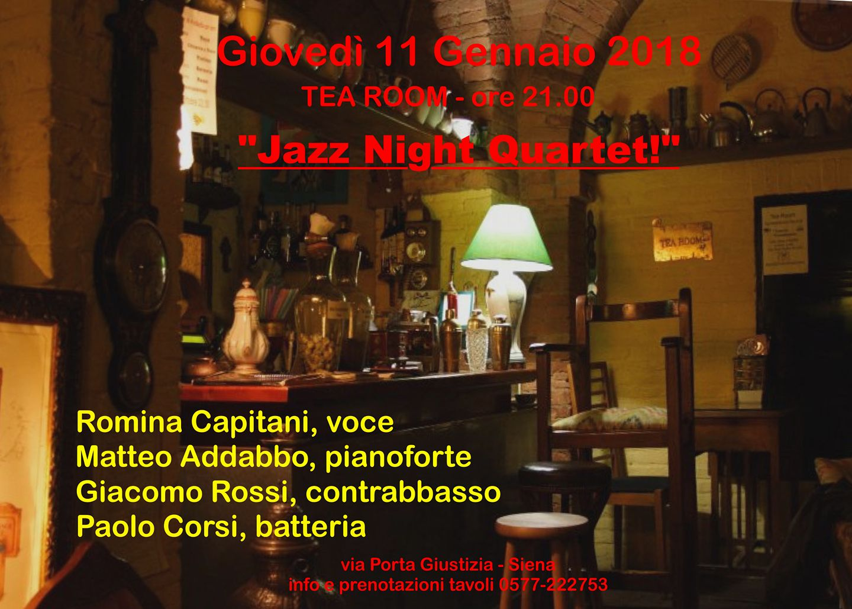 Tea Room Jazz Night Quartet